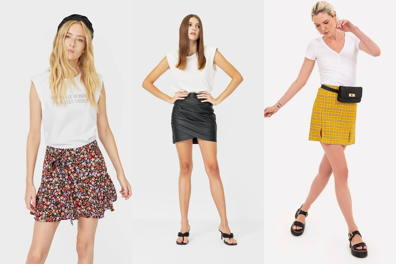 Wearing GAP Miniskirt the Right Way